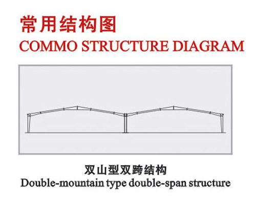 双山型双跨结构